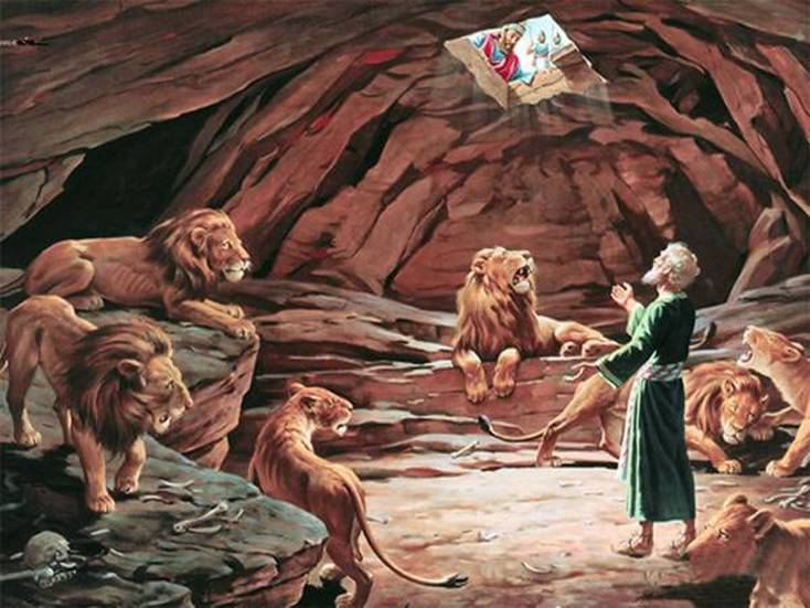 There is a twofold application of Daniel in the story of Daniel and the den of lions. Daniel represents us who violated God's Law, and he also represents Jesus who was punished in our place. We were supposed to go into the den of lions. Jesus was thrown into the den in our place. After He served our sentence in the den, He did not stay dead permanently as the Lord shut the mouth of the lions (the devil and his demons) - Jesus rose again from the dead. When we believe in Jesus Christ as Lord and Savior, we have all been through the lion's den with Jesus and we have all come out of it with Him.
