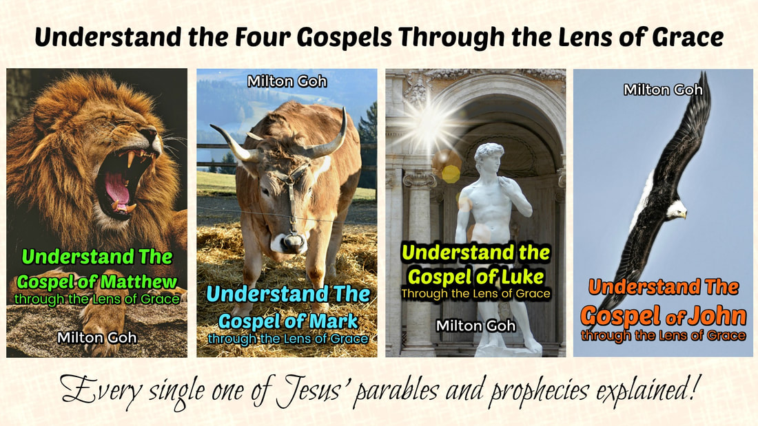 In these books, you'll understand which parts of the Four Gospels are for the dispensation of the Law but written for our learning, which ones are for us to apply as New Covenant commandments today and which ones are to be looked forward to in the future! No passage in the Four Gospels will remain a mystery to you after reading these ebooks. Faith, hope and love will blossom in your innermost being because these crucial books of the Bible are unlocked for you.