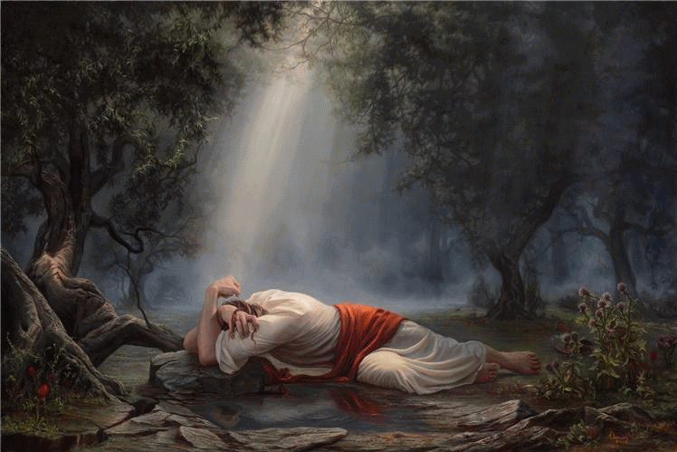 In the Garden of Eden, Adam was cursed to eat bread from the sweat of his face (from toil and labor). In the Garden of Gethsemane when Jesus sweat blood, that's when He redeemed us from sweat. We can work but we don't have to be stressed.