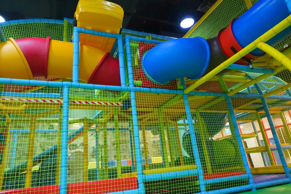 Three-stories high and looming over the playground, this obstacle course will put your child's (and yours) agility and endurance to the test, while working their muscles and improving their fitness.