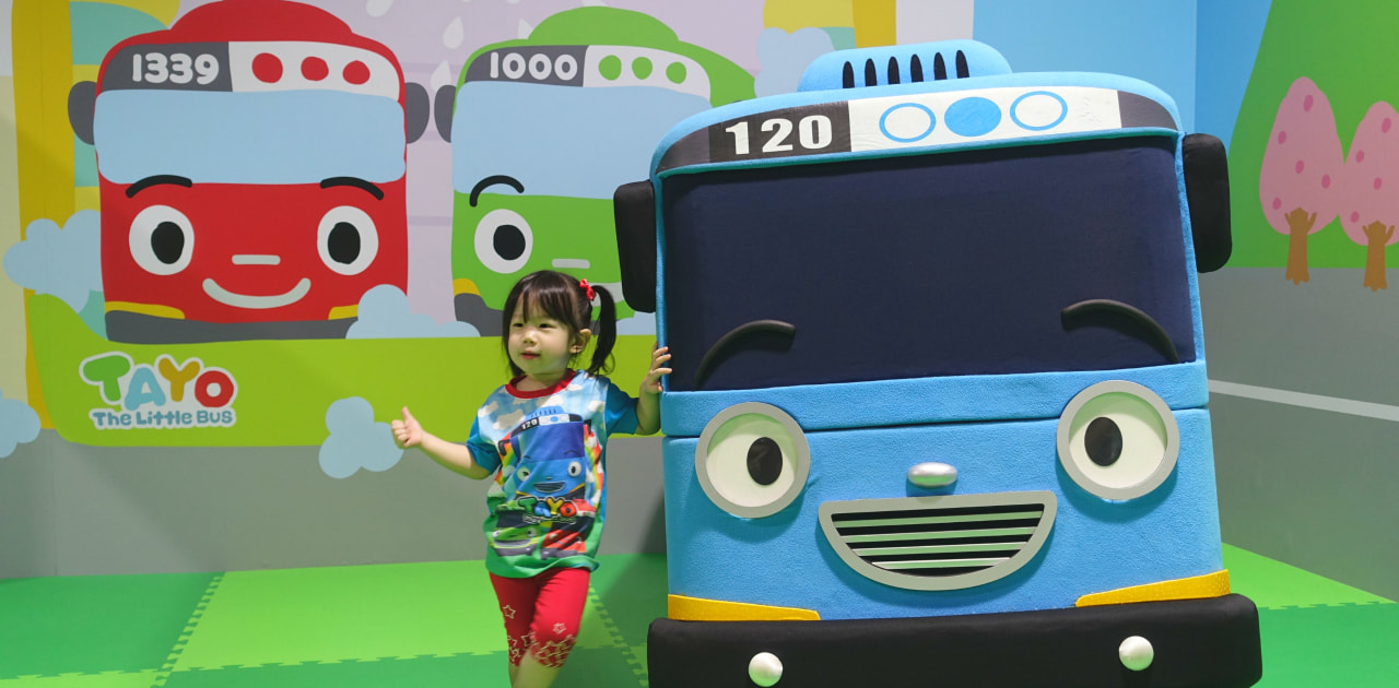 Tayo Station is a fun indoor playground! Tayo bus mascot made an appearance today! He will also appear for birthday parties and events held at Tayo Station.