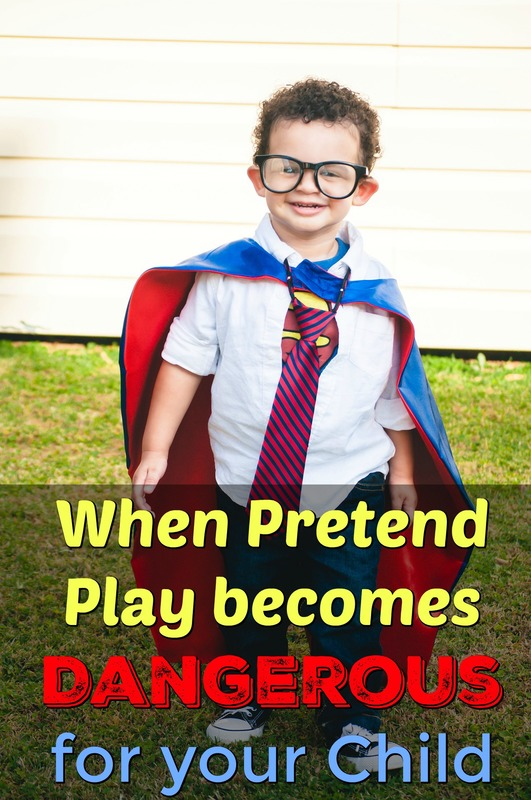 Pinterest Pinnable Image. Share with your fellow Christian parents about the potential dangers of pretend play for children, and how they can teach them to speak the right way, in accordance with God's will!