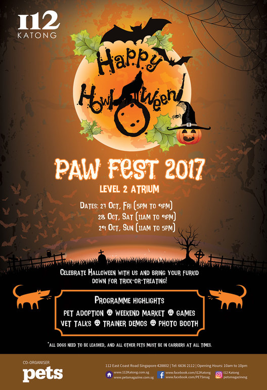 Paw Fest 2017 at I12 Katong in Singapore