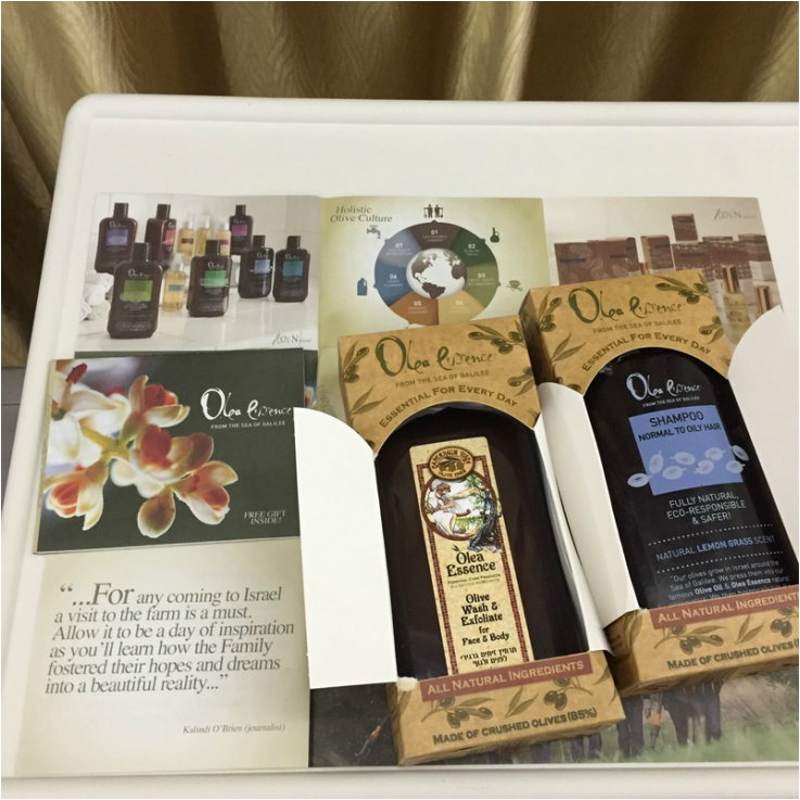 As pictured from left to right: 1) Our absolute favorite Olea Essence product - The