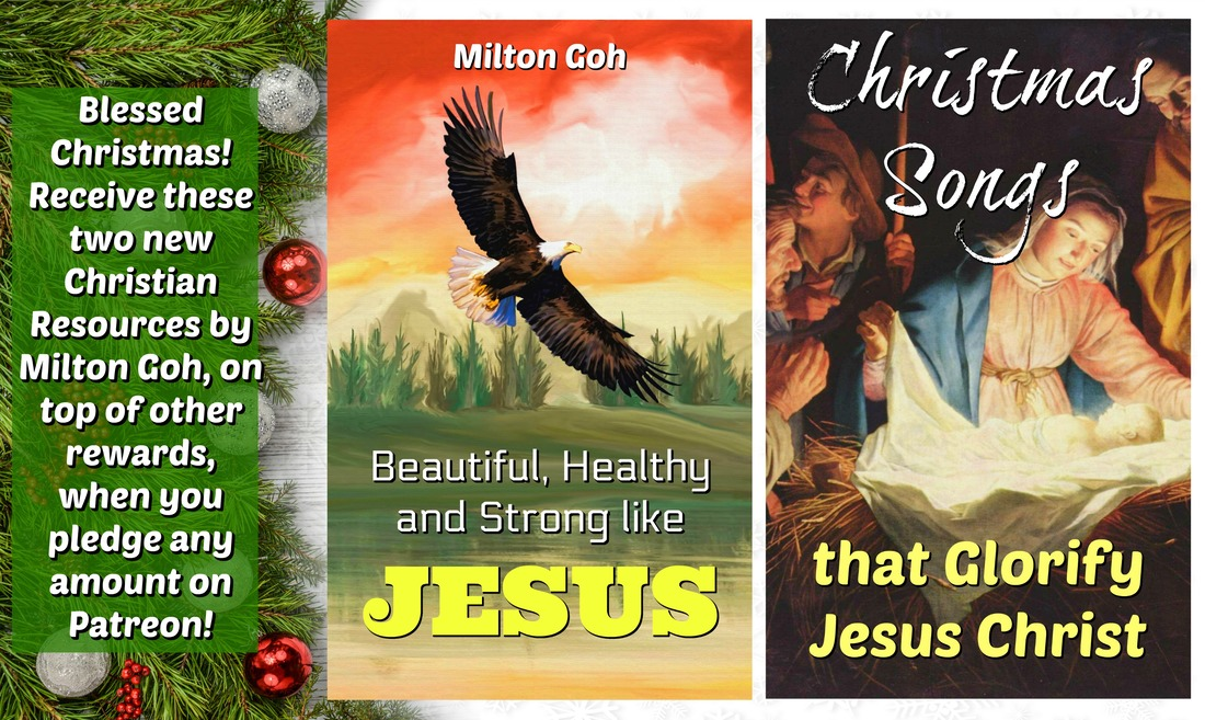 Enjoy this special Christmas deal: Receive two new Christian resources on top of other rewards, when you pledge any amount on Patreon: