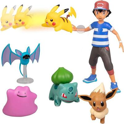 Click to get Ash Ketchum, Pikachu and other Pokemon figurines.
