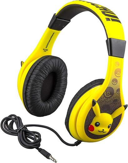 Click to get this adorable Pikachu kids headphones.